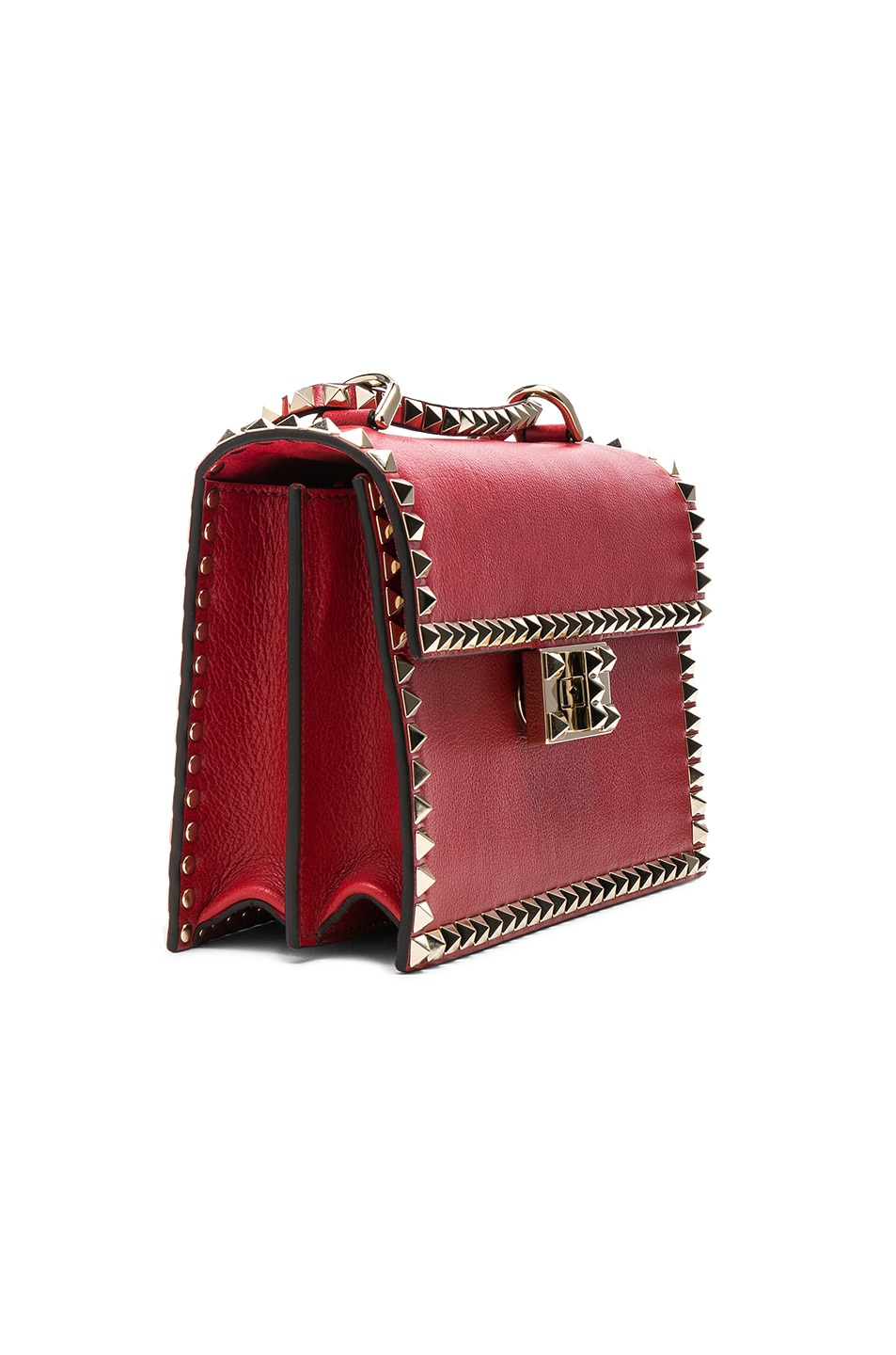 Image 4 of Valentino Small Rockstud No Limit Crossbody Bag in Red