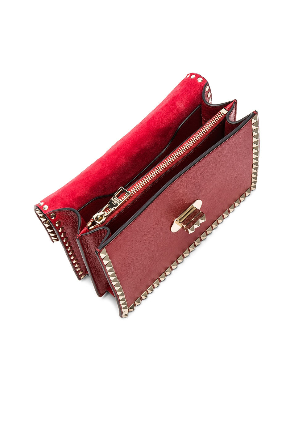 Image 5 of Valentino Small Rockstud No Limit Crossbody Bag in Red