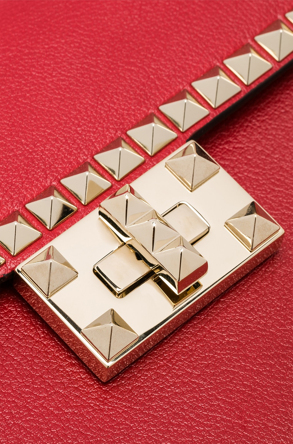Image 8 of Valentino Small Rockstud No Limit Crossbody Bag in Red