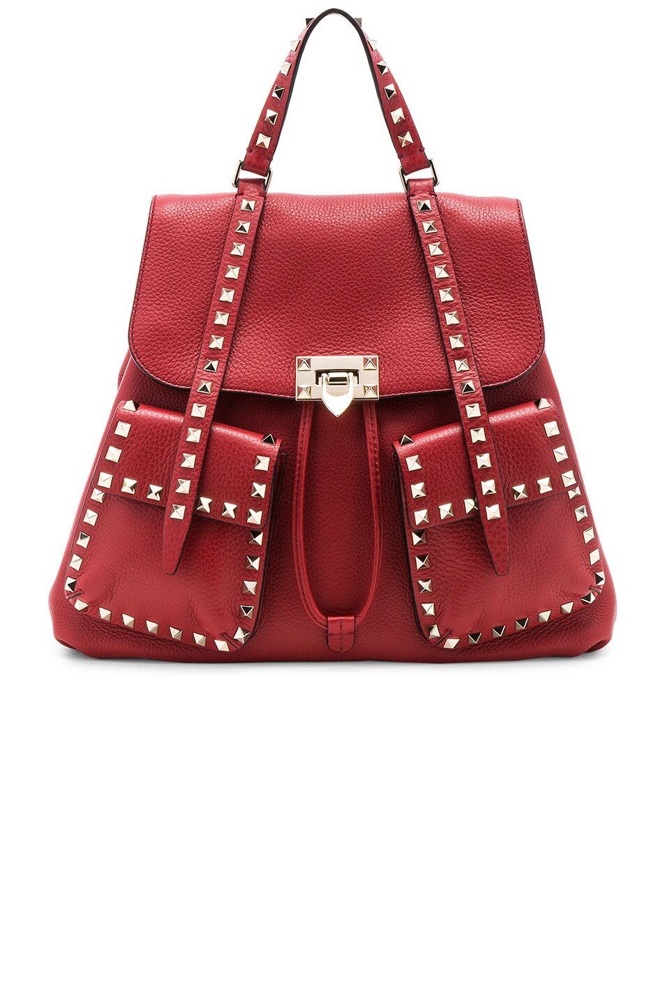 Image 1 of Valentino Rockstud Backpack in Red