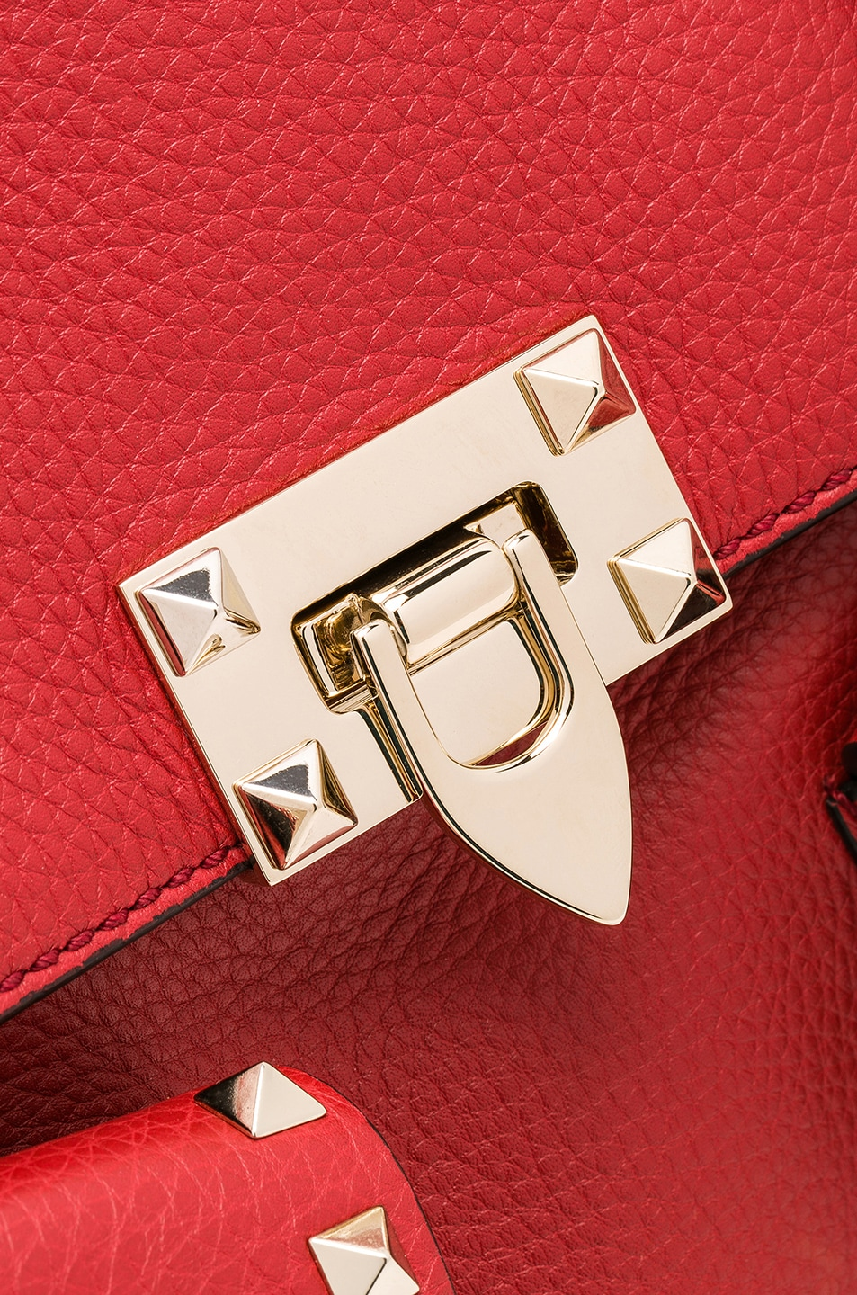 Image 7 of Valentino Rockstud Backpack in Red