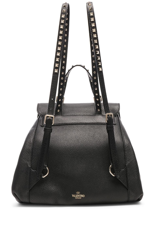 Image 3 of Valentino Rockstud Backpack in Black