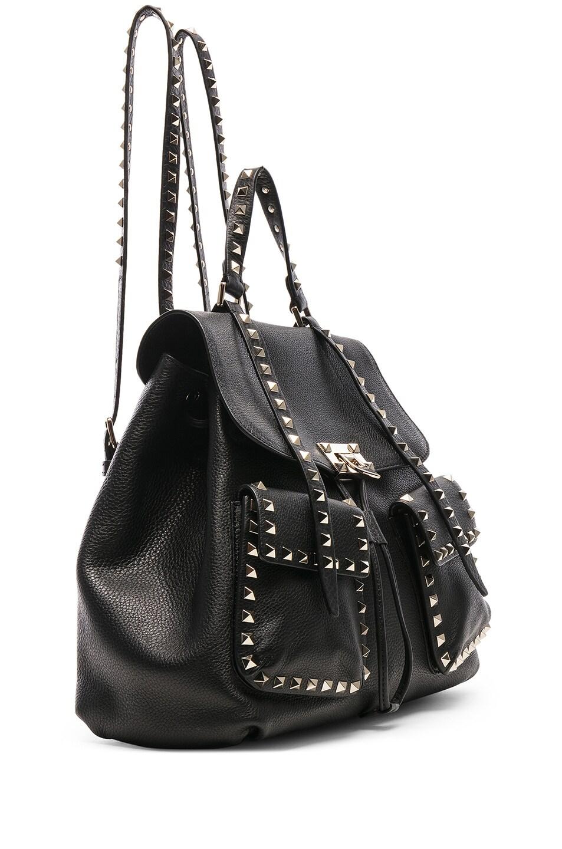 Image 4 of Valentino Rockstud Backpack in Black