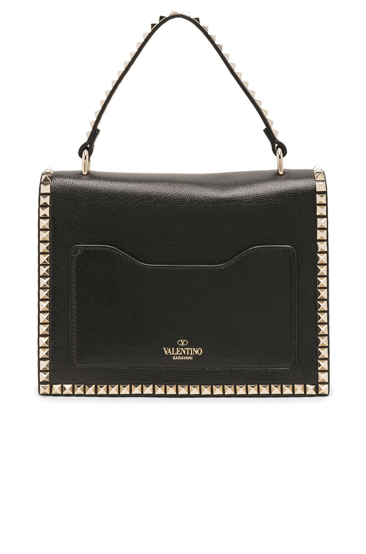 Image 2 of Valentino Rockstud No Limit Top Handle Bag in Black