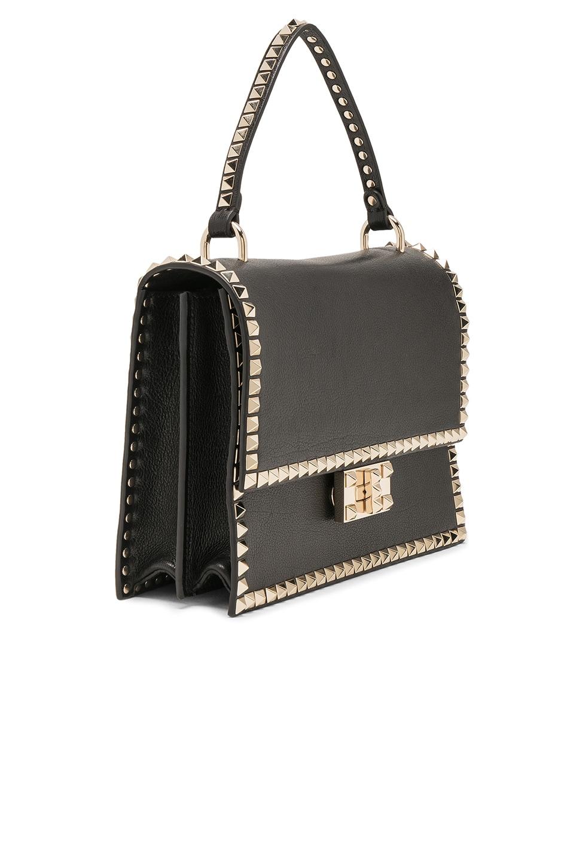 Image 3 of Valentino Rockstud No Limit Top Handle Bag in Black
