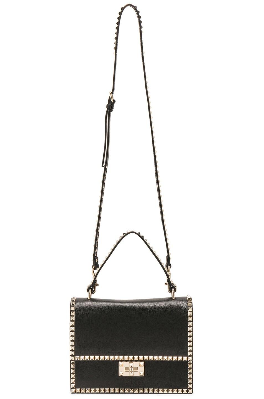 Image 5 of Valentino Rockstud No Limit Top Handle Bag in Black