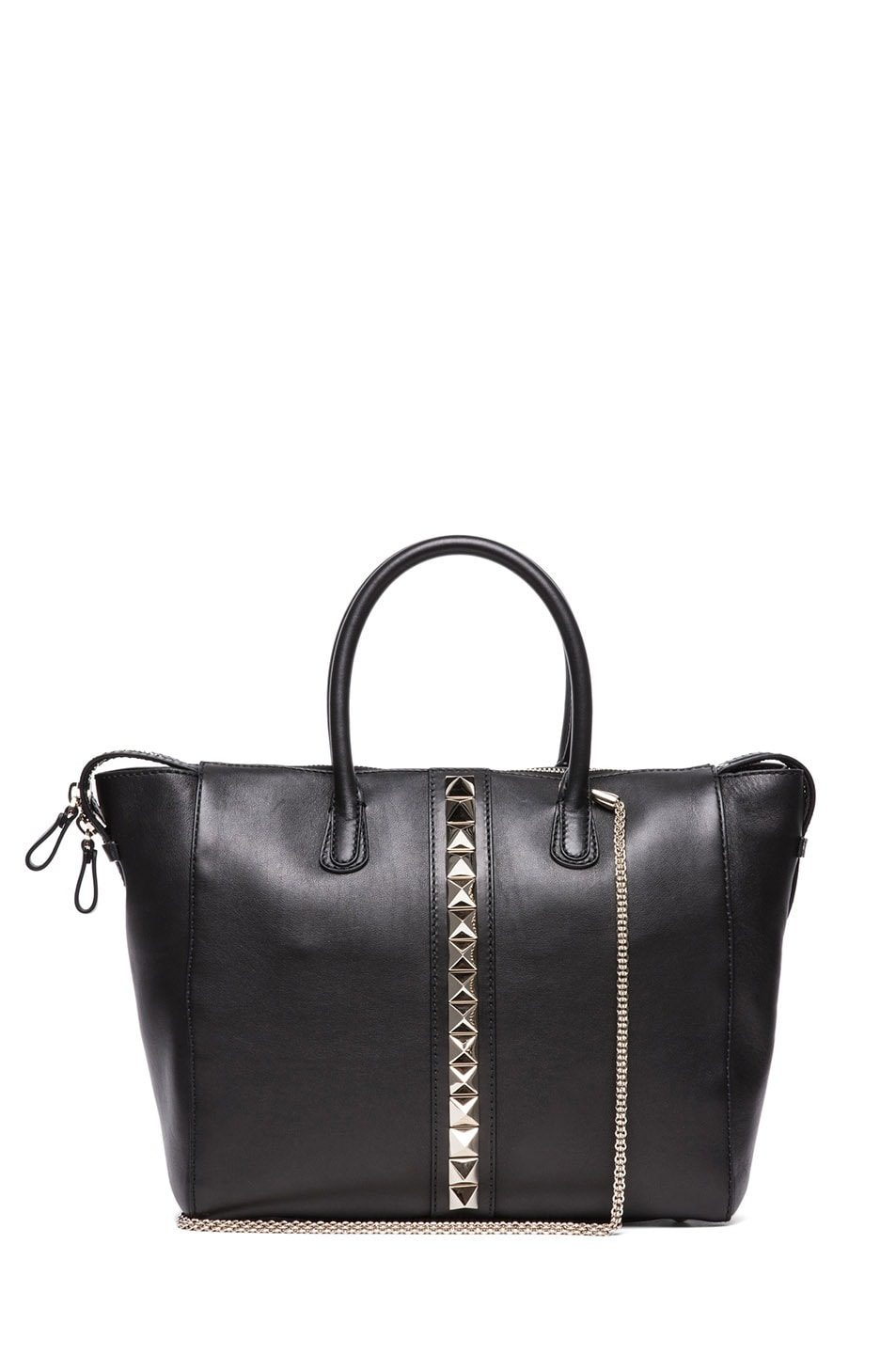 Image 1 of Valentino Lock Double Handle Bag in Nero