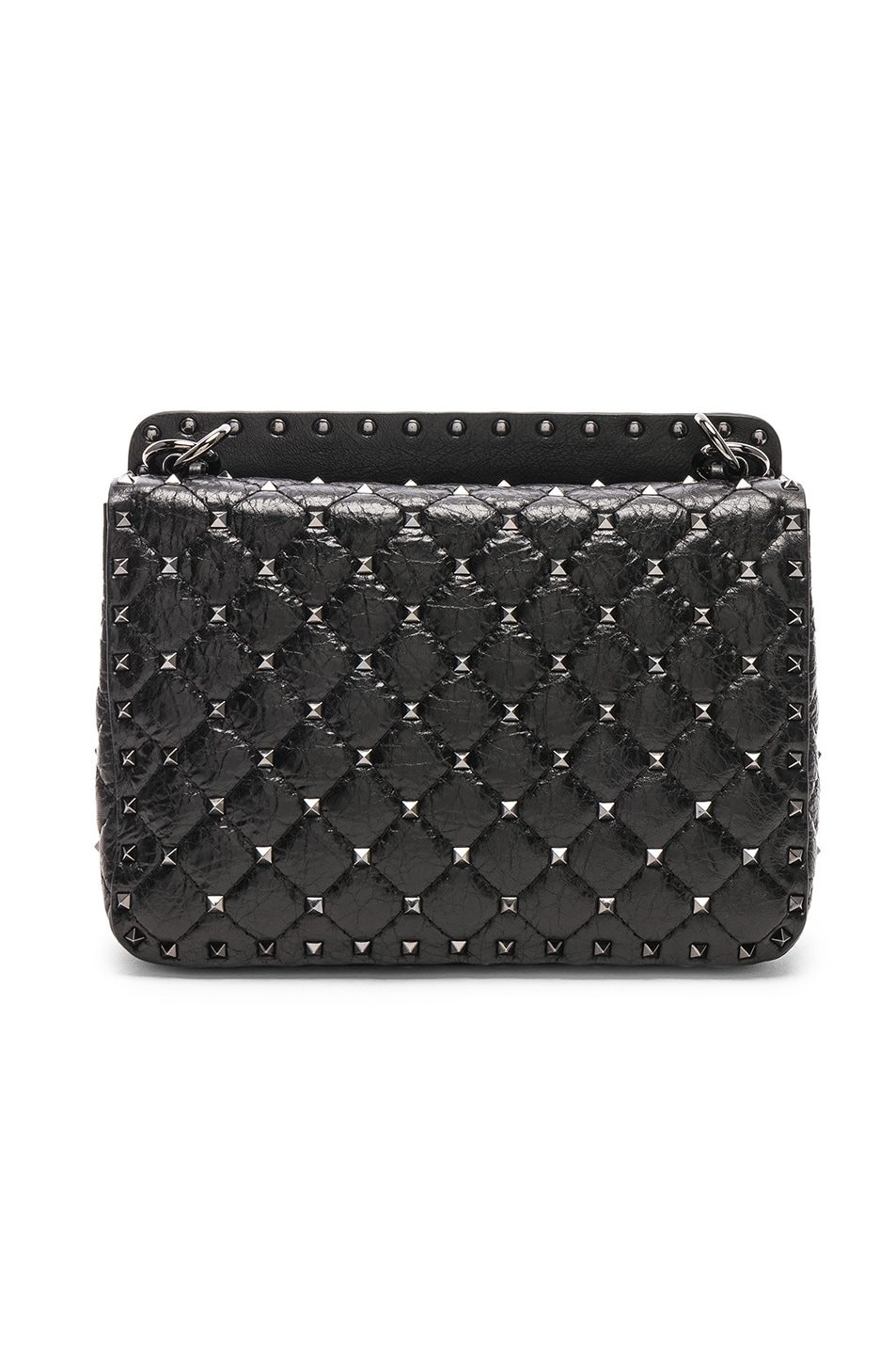 Image 3 of Valentino Rockstud Spike Medium Shoulder Bag in Nero