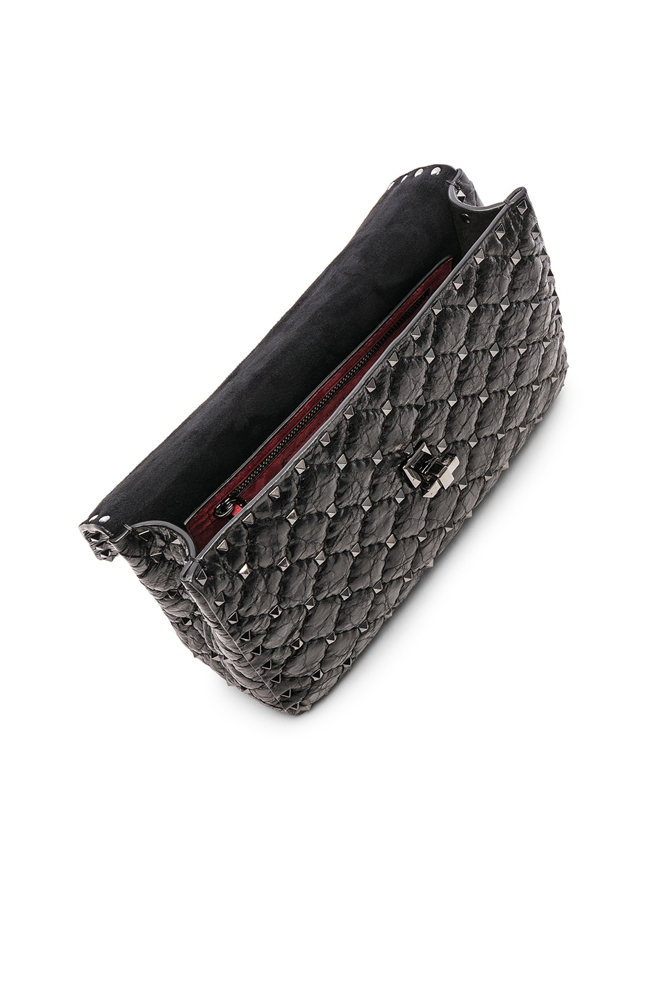 Image 5 of Valentino Rockstud Spike Medium Shoulder Bag in Nero