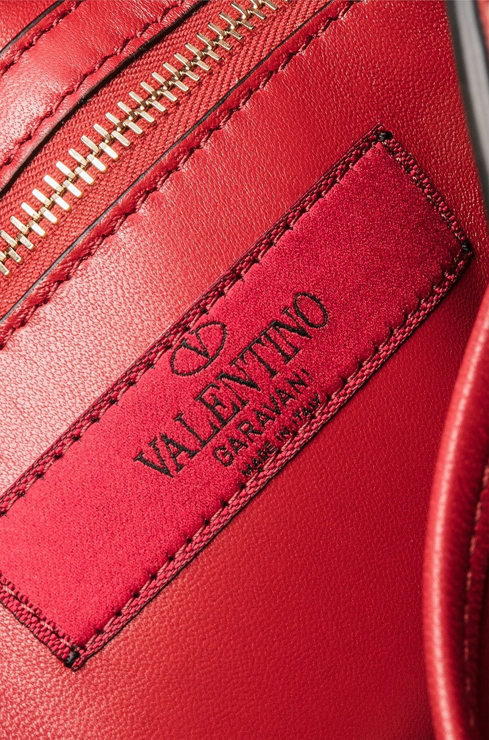 Image 7 of Valentino Rockstud Spike Medium Shoulder Bag in Red