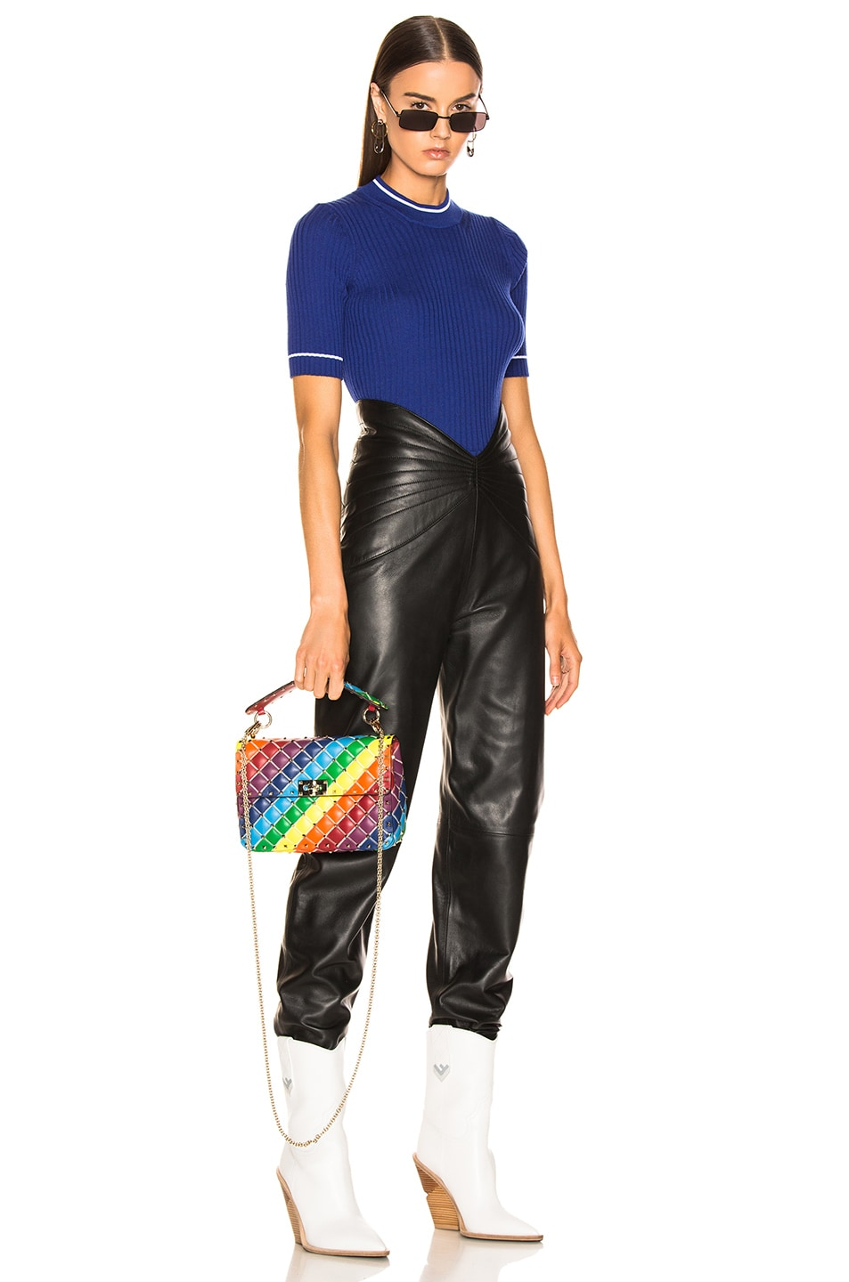 Image 2 of Valentino Spike It Medium Shoulder Bag in Rainbow