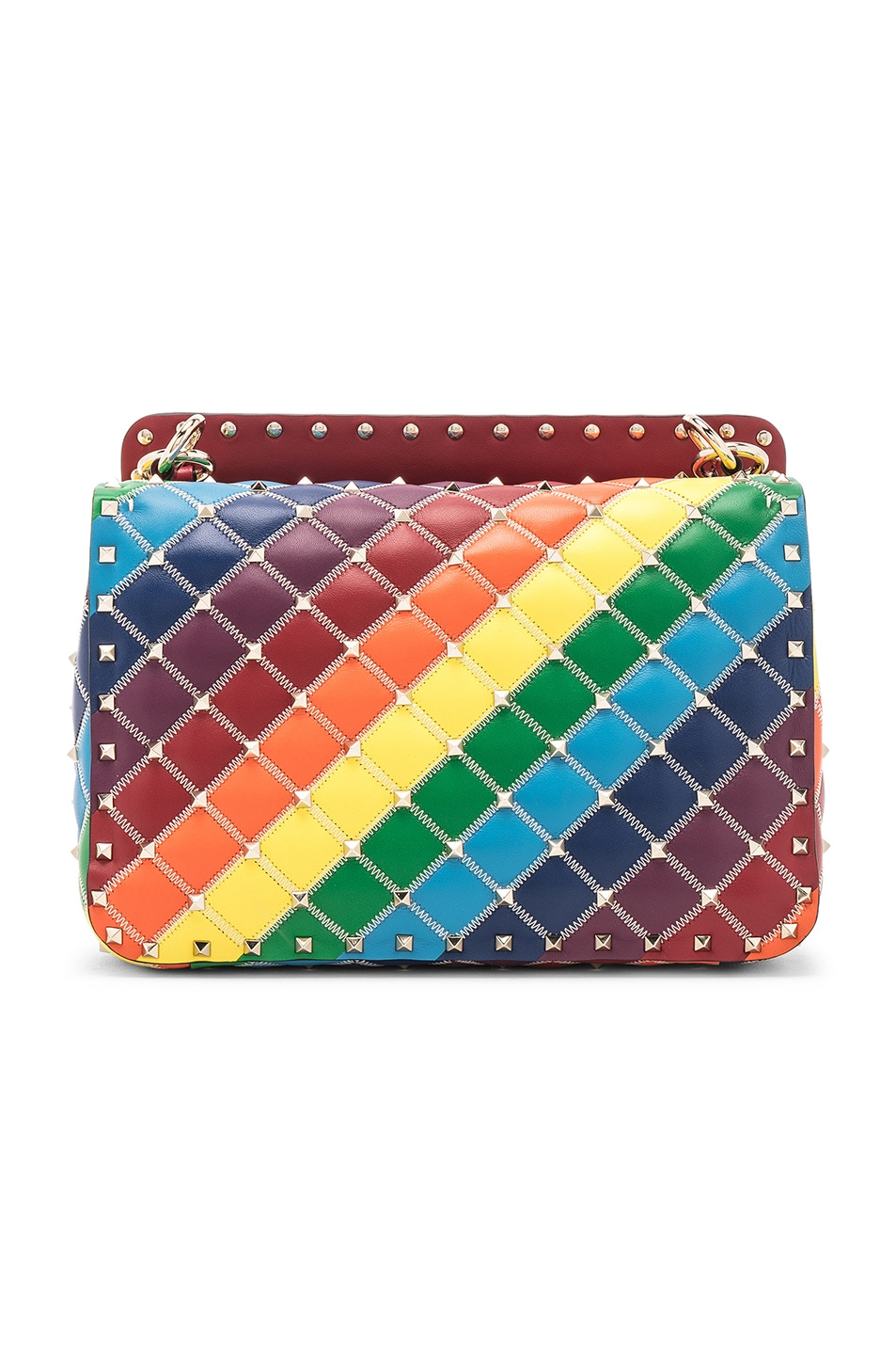 Image 3 of Valentino Spike It Medium Shoulder Bag in Rainbow