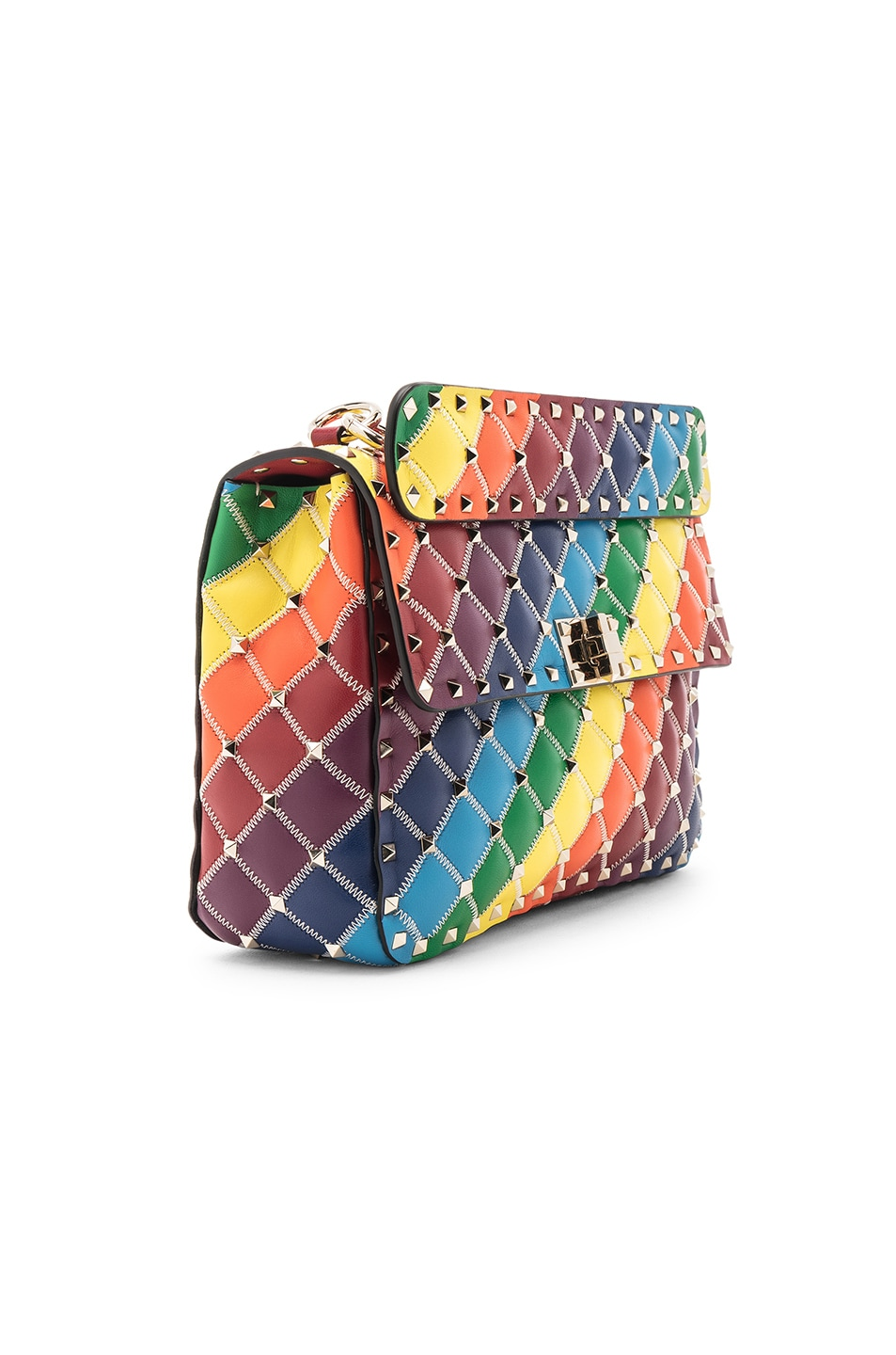 Image 4 of Valentino Spike It Medium Shoulder Bag in Rainbow