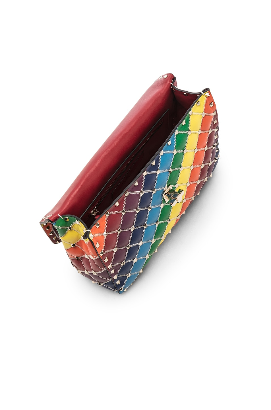Image 5 of Valentino Spike It Medium Shoulder Bag in Rainbow