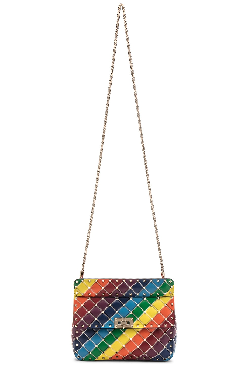 Image 6 of Valentino Spike It Medium Shoulder Bag in Rainbow