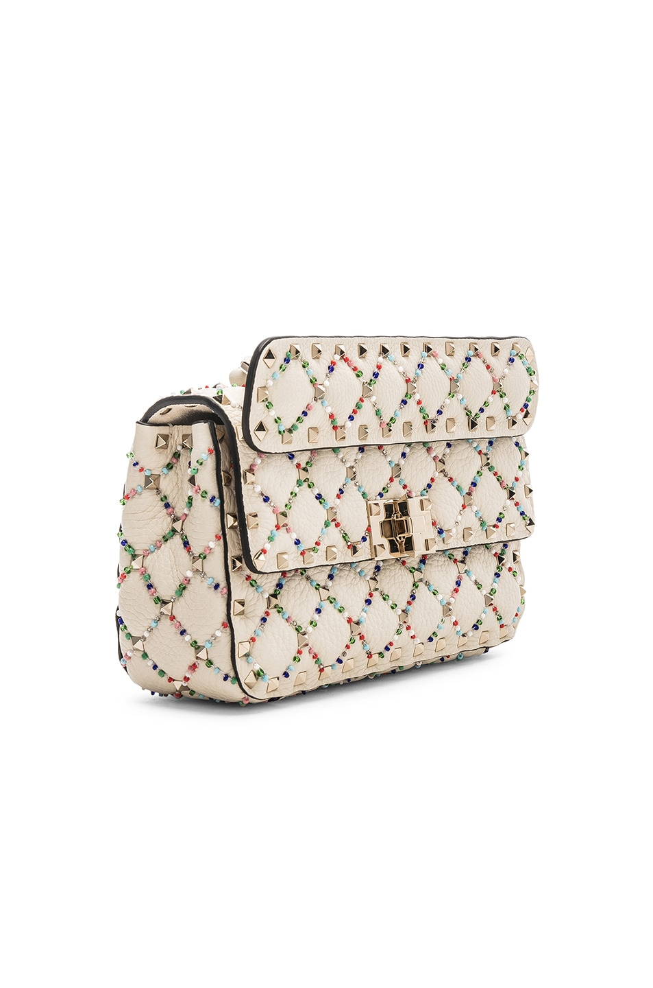 Image 4 of Valentino Spike It Small Shoulder Bag in Light Ivory