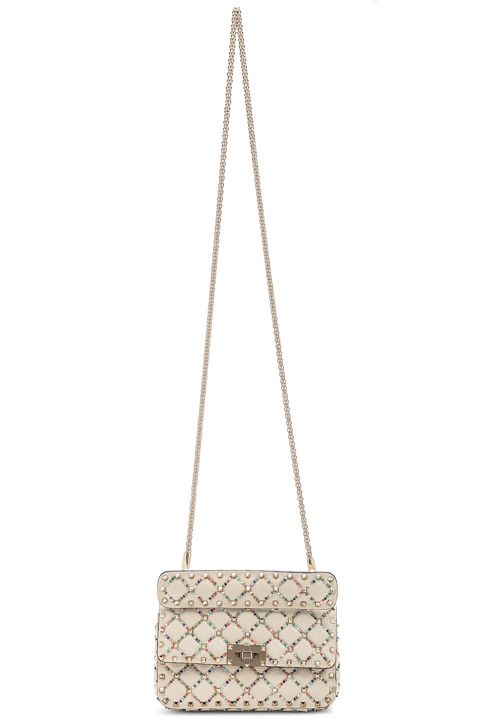 Image 6 of Valentino Spike It Small Shoulder Bag in Light Ivory