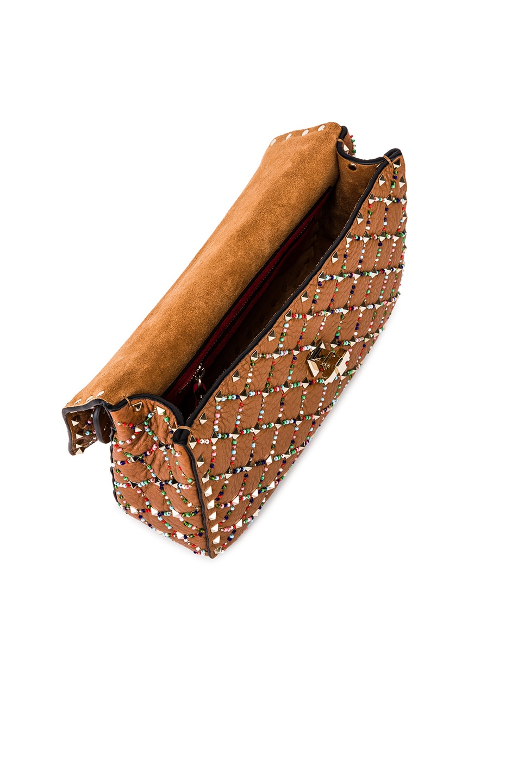 Image 5 of Valentino Spike It Medium Shoulder Bag in Light Brown