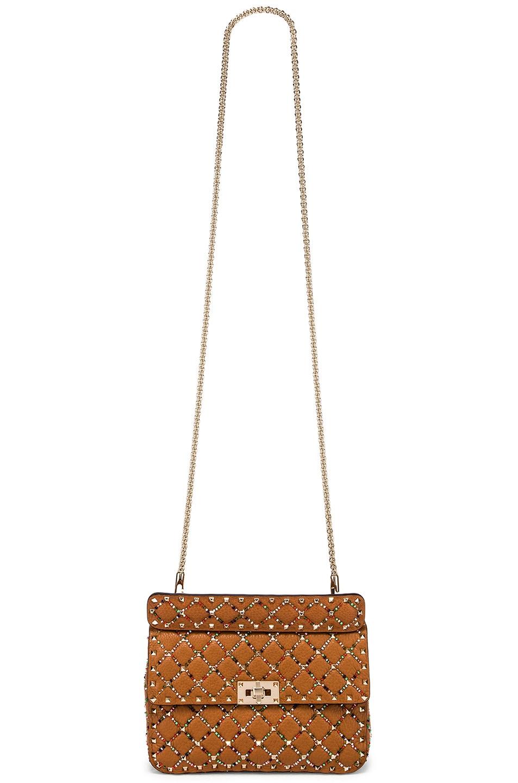 Image 6 of Valentino Spike It Medium Shoulder Bag in Light Brown