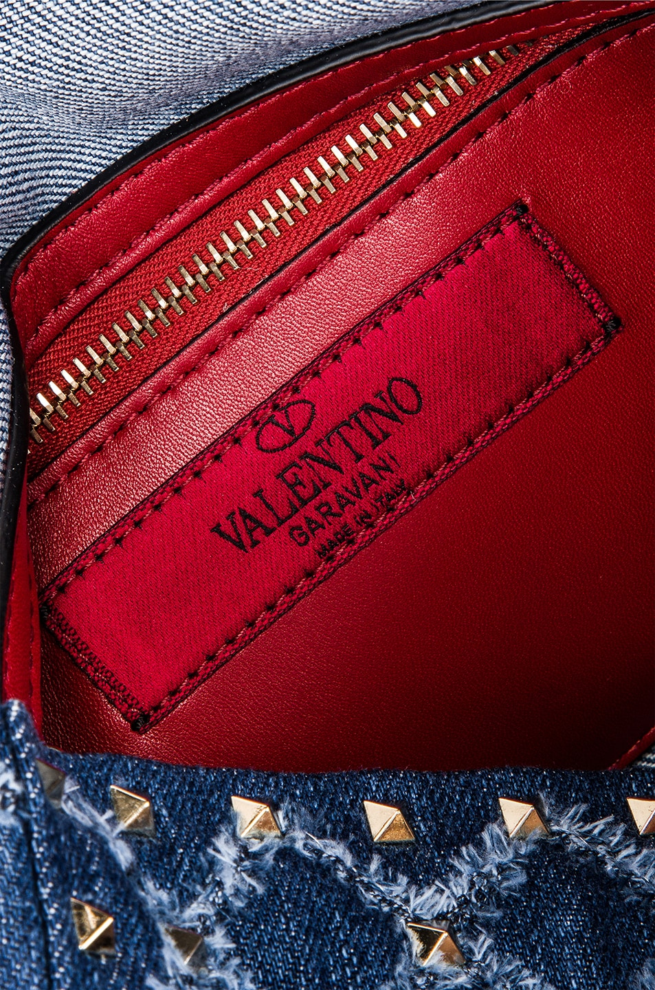Image 7 of Valentino Rockstud Spike Medium Shoulder Bag in Denim