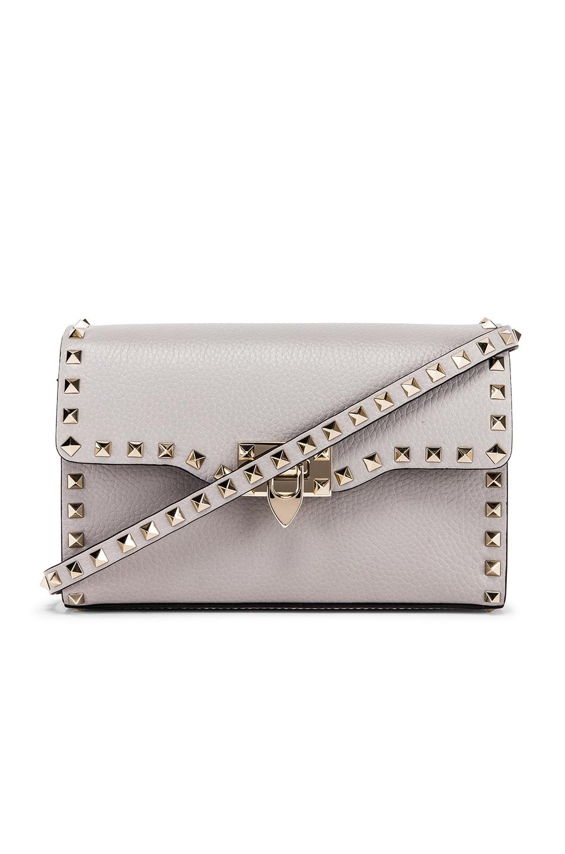 Image 1 of Valentino Rockstud Small Shoulder Bag in Pastel Grey