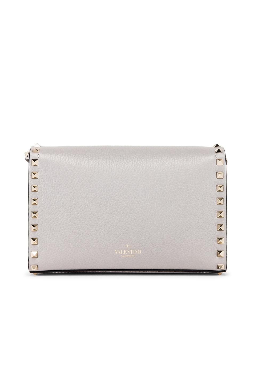 Image 3 of Valentino Rockstud Small Shoulder Bag in Pastel Grey