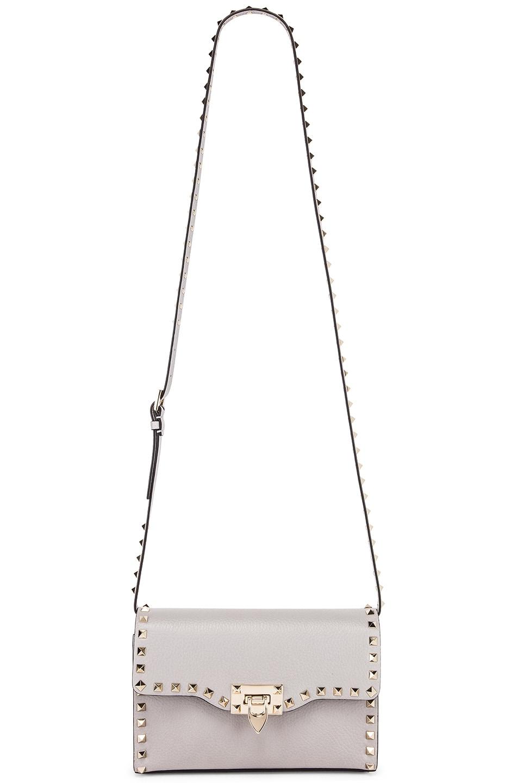 Image 6 of Valentino Rockstud Small Shoulder Bag in Pastel Grey