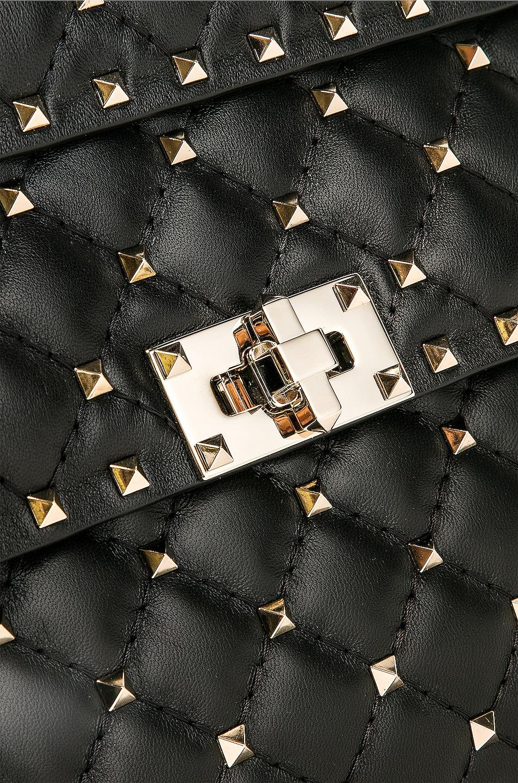 Image 8 of Valentino Medium Rockstud Spike Shoulder Bag in Nero