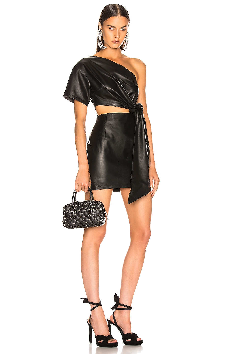 Image 2 of Valentino Rockstud Spike Small Duffle Bag in Nero