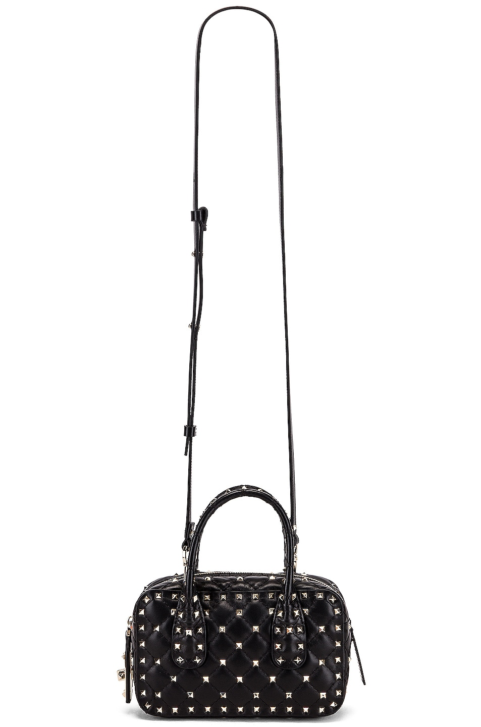 Image 6 of Valentino Rockstud Spike Small Duffle Bag in Nero