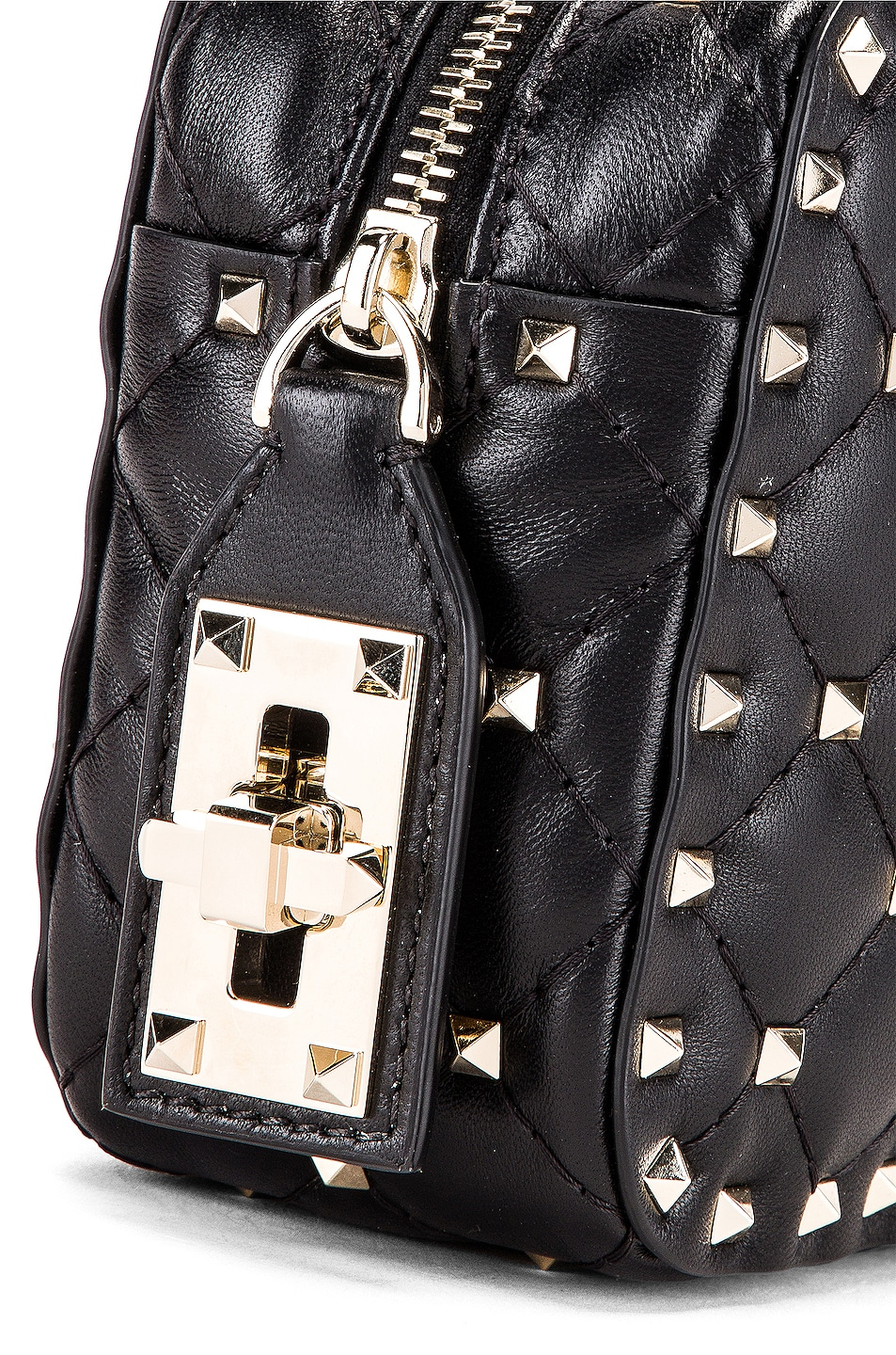 Image 8 of Valentino Rockstud Spike Small Duffle Bag in Nero