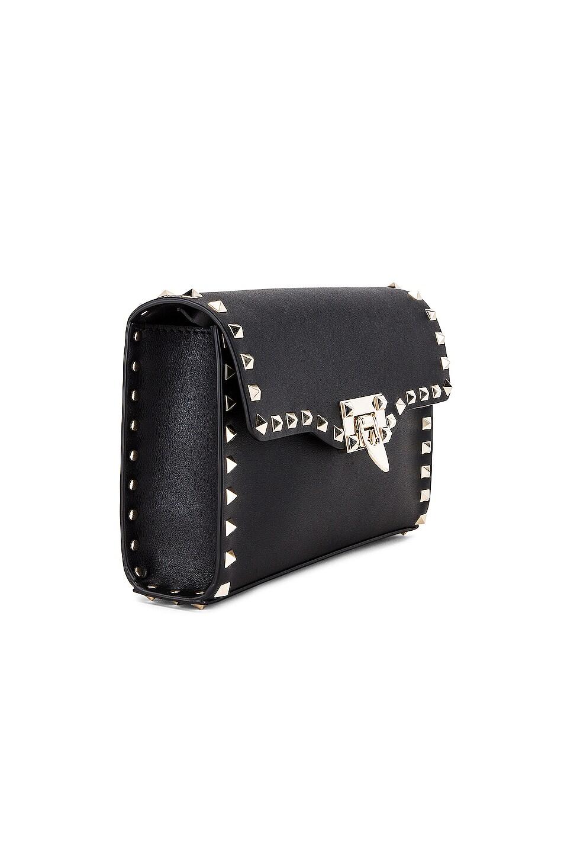 Image 4 of Valentino Rockstud Small Shoulder Bag in Nero