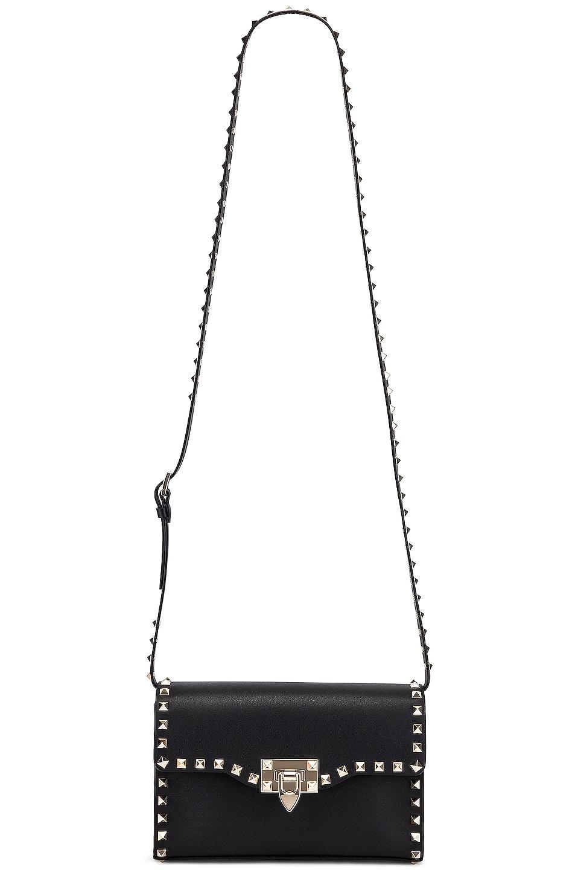 Image 6 of Valentino Rockstud Small Shoulder Bag in Nero