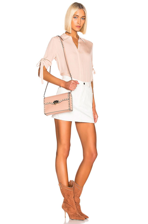Image 2 of Valentino Rockstud Small Shoulder Bag in Rose Cannelle
