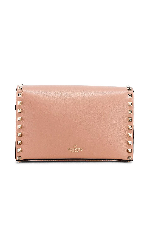 Image 3 of Valentino Rockstud Small Shoulder Bag in Rose Cannelle