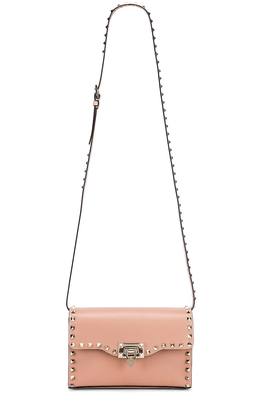 Image 6 of Valentino Rockstud Small Shoulder Bag in Rose Cannelle