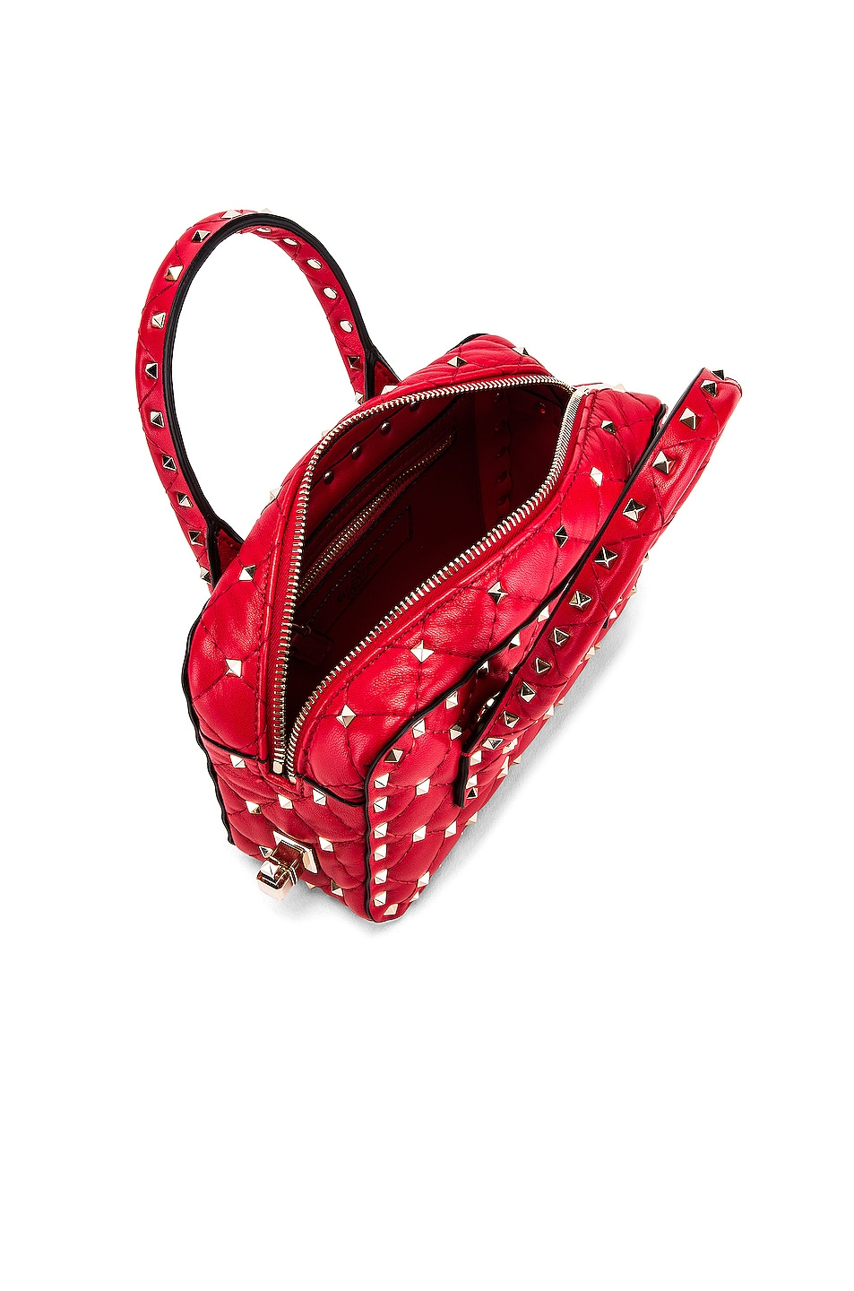 Image 5 of Valentino Rockstud Spike Small Duffle Bag in Rouge
