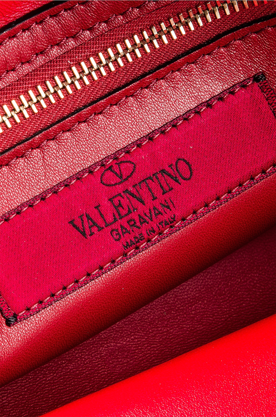 Image 7 of Valentino Rockstud Spike Small Duffle Bag in Rouge