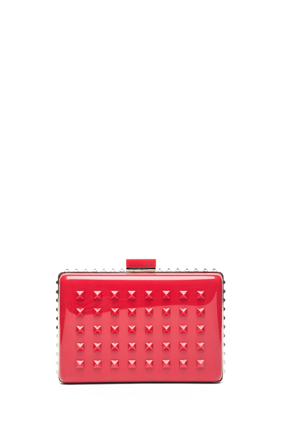 Image 1 of Valentino Noir Minaudiere Bag in Rosso