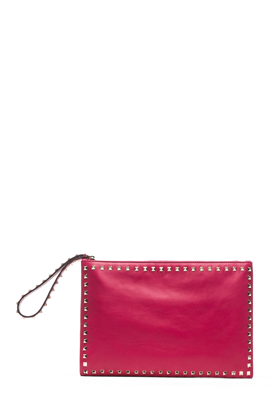 Image 1 of Valentino Small Rockstud Clutch in Cyclamin