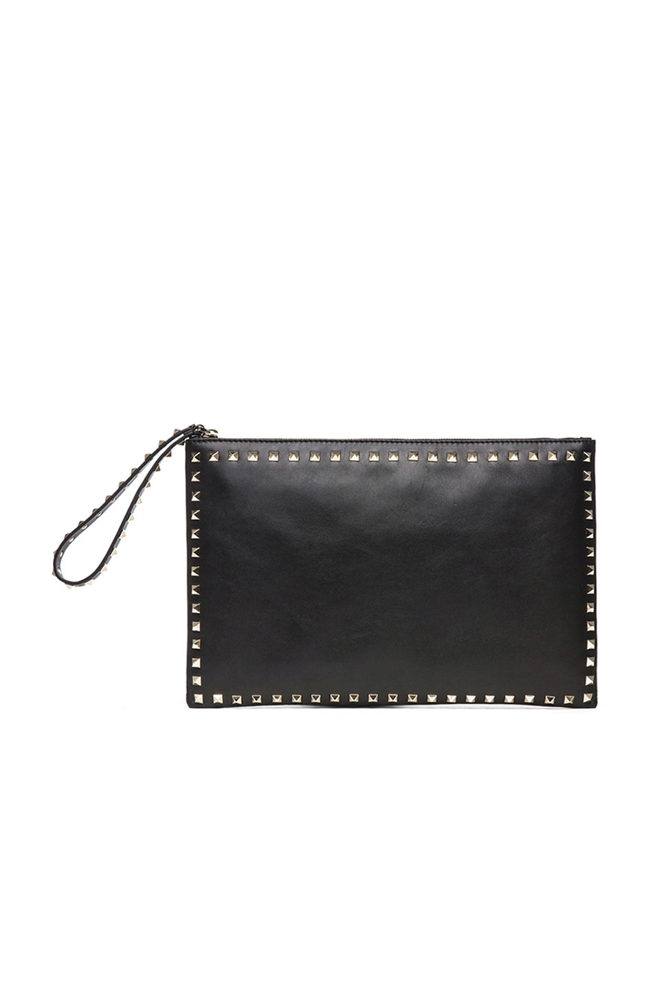 Image 1 of Valentino Small Rockstud Clutch in Black
