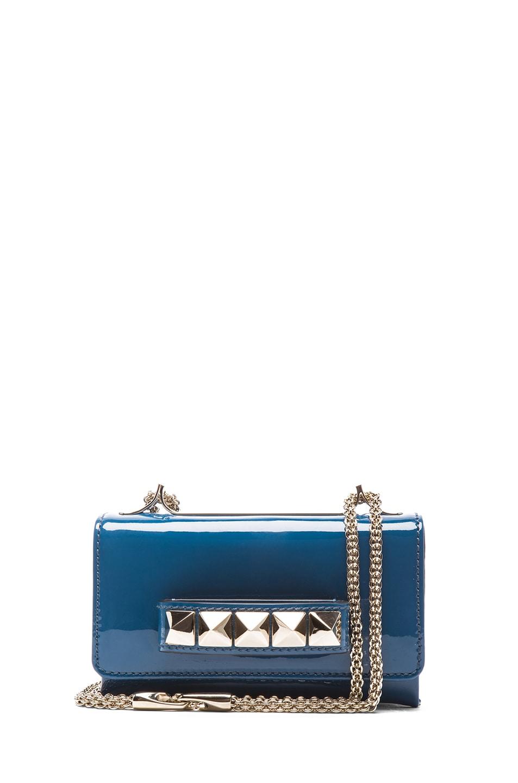 Image 1 of Valentino Small Va-Va-Voom Flap Bag in Blue Delft