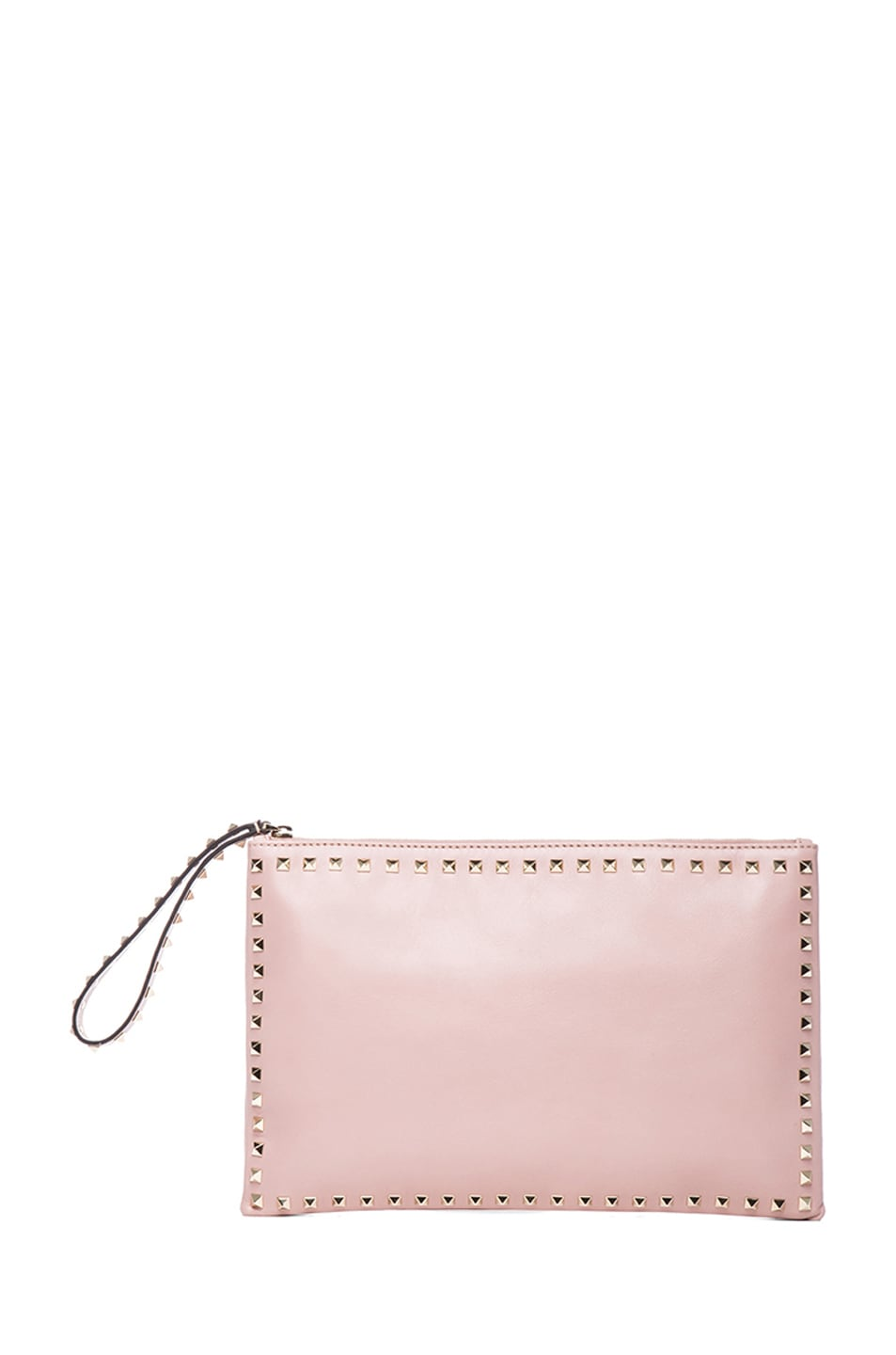 Image 1 of Valentino Small Rockstud Clutch in Waxy Rose