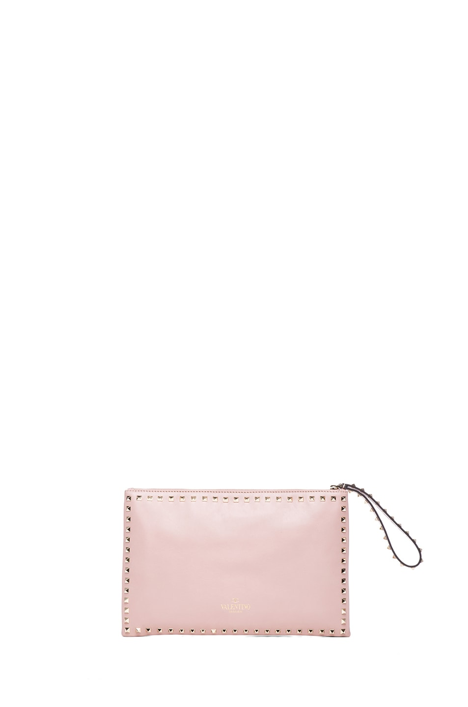 Image 2 of Valentino Small Rockstud Clutch in Waxy Rose