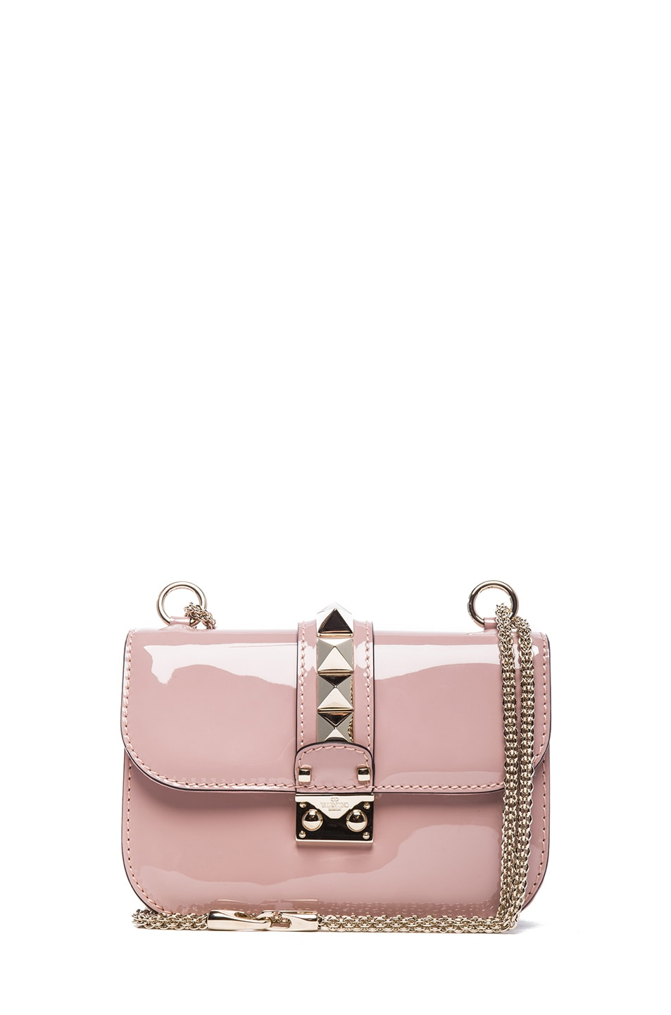 Image 1 of Valentino Small Lock Flap Bag in Waxy Rose
