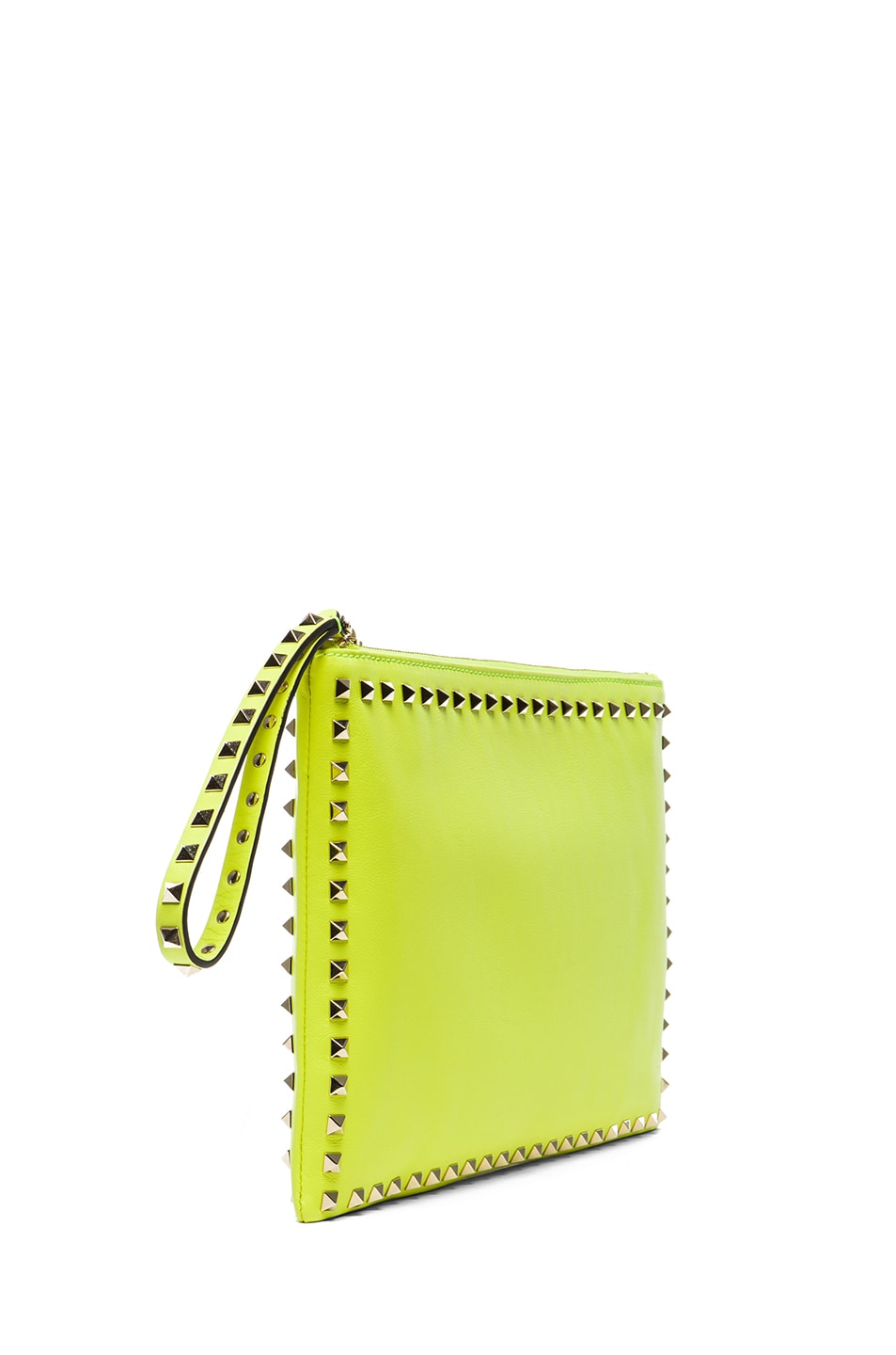 7be774516e Image 3 of Valentino Small Rockstud Clutch in Fluo Yellow
