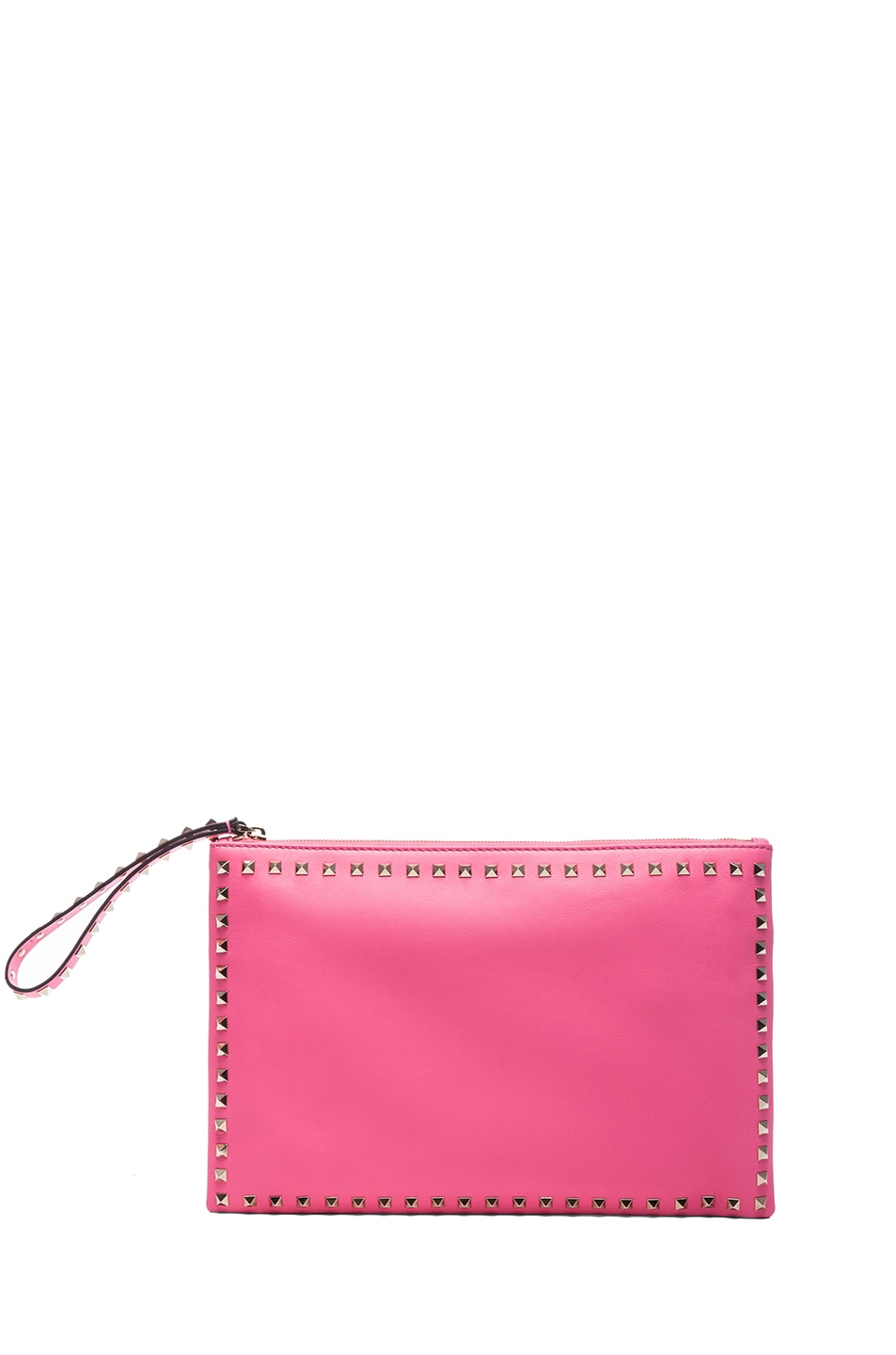 Image 1 of Valentino Small Rockstud Clutch in Fluo Pink