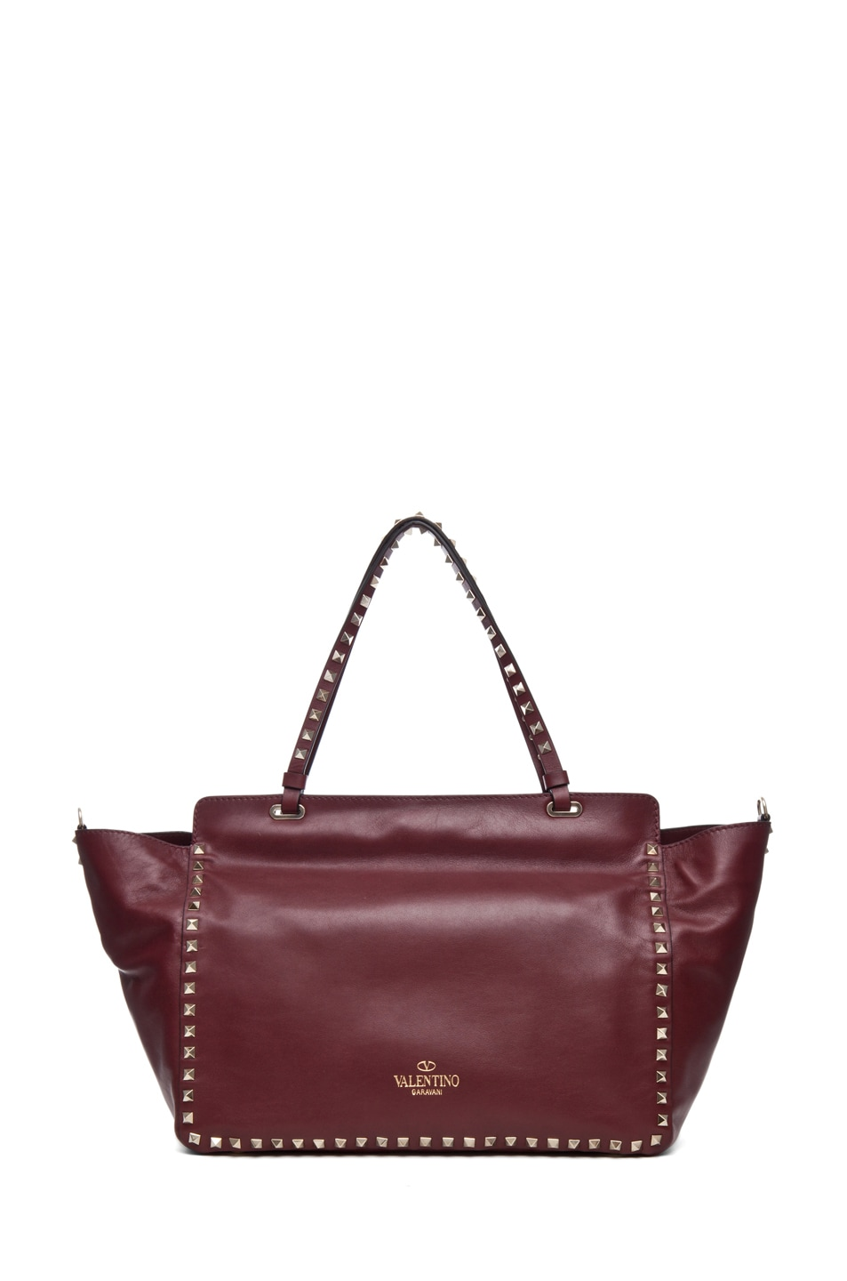 Image 2 of Valentino Rockstud Small Tote in Prun