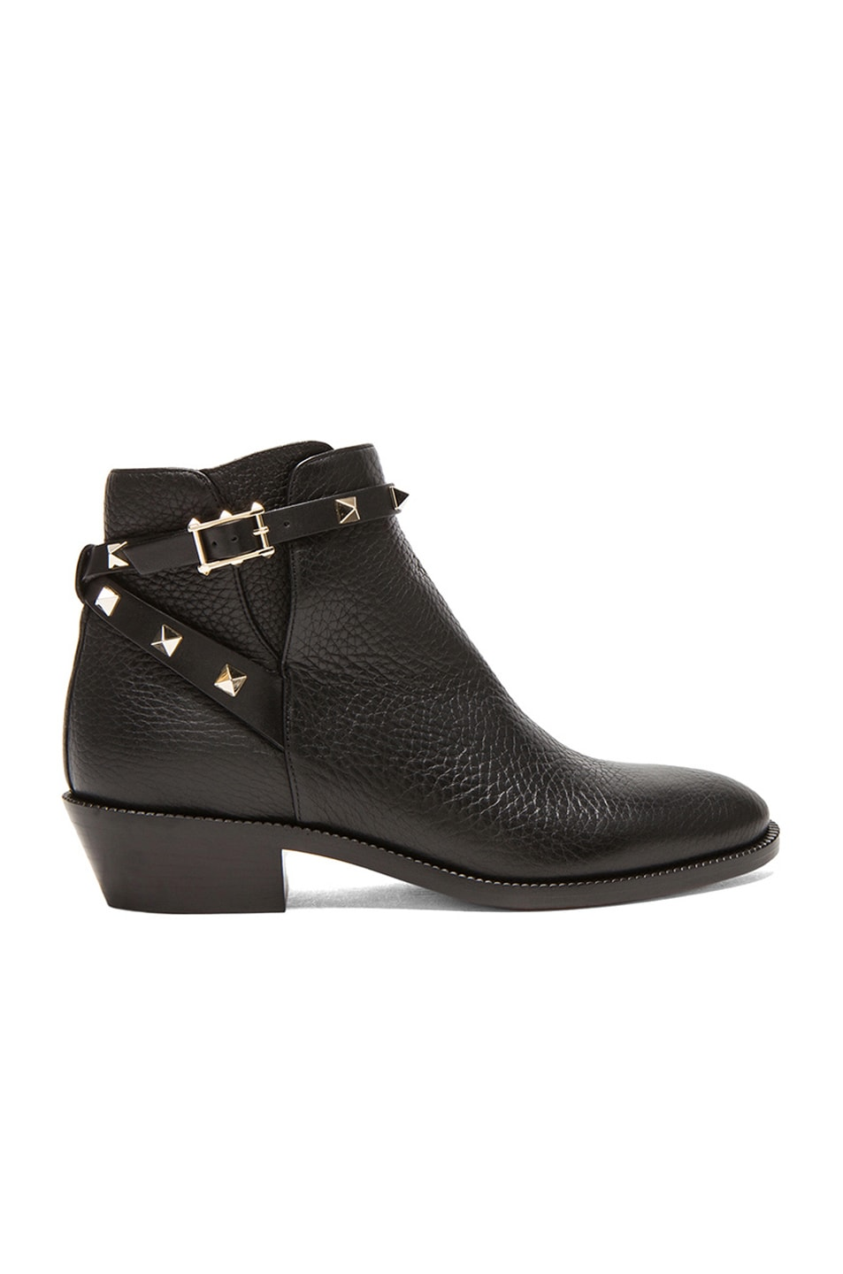 2cf0858b48ff Image 1 of Valentino Rockstud Leather Ankle Boots T.35 in Black