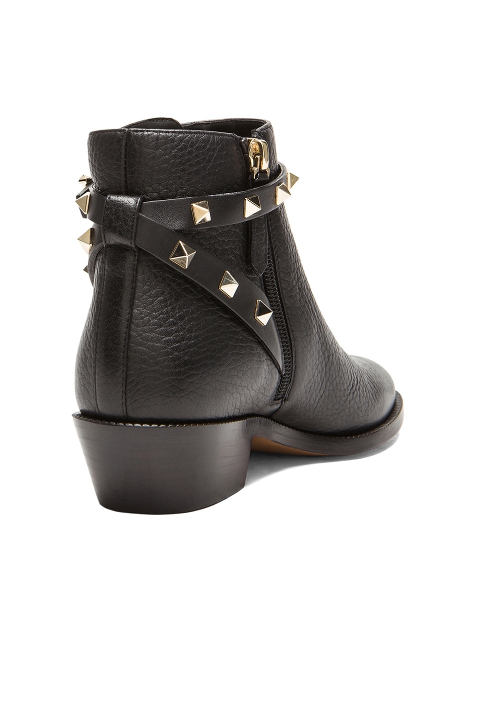 ecbe92b7a070 Image 3 of Valentino Rockstud Leather Ankle Boots T.35 in Black